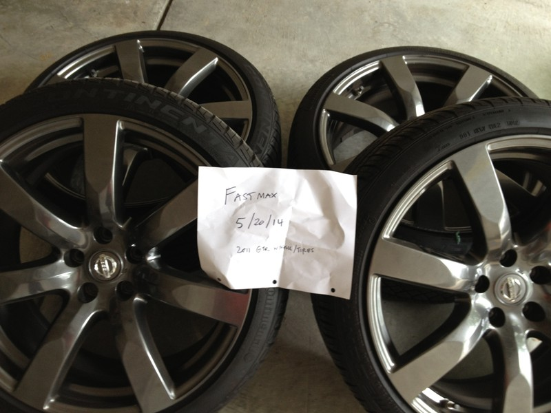 Rays 2011 Nissan Gt R R35 Oem Wheels 20x9 5 25 20x10 5